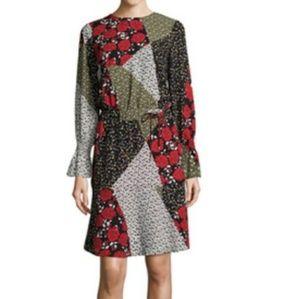 Libby Edelman sz S Mix Print Floral peasant Dress